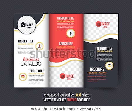 black wave business trifold brochure design template Stock photo © SArts