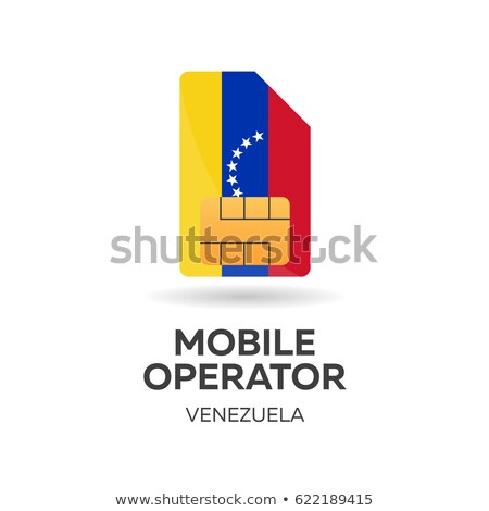 venezuela mobile operator sim card with flag vector illustration stock photo © leo_edition