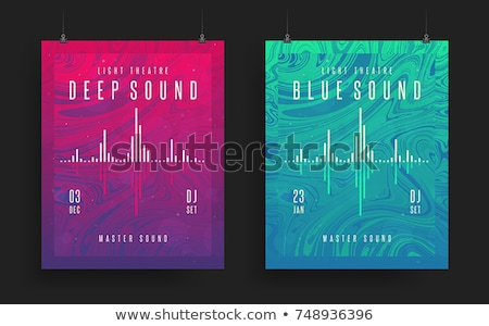 abstract vibrant music party club flyer template design set Stock photo © SArts