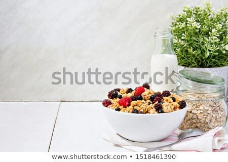 fraîches · bleuets · bol · fruits · blanche · fruits - photo stock © yelenayemchuk