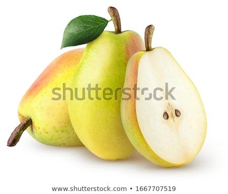 два · свежие · груши · изолированный · белый · продовольствие - Сток-фото © digifoodstock