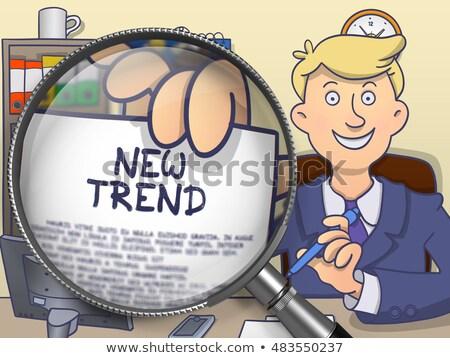 new trend through lens doodle design stock photo © tashatuvango