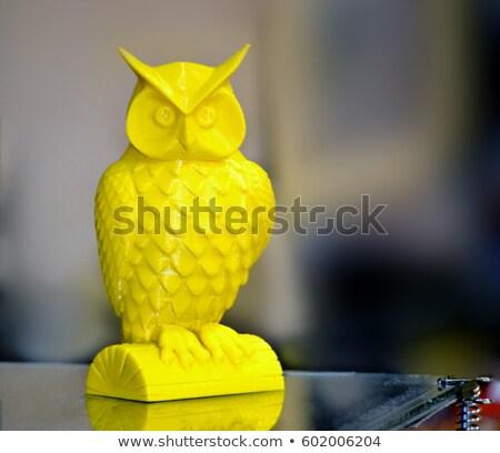 background shapes owl 3 stock photo © olena