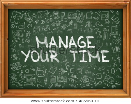 Hand Drawn Manage Your Time on Green Chalkboard. Stock photo © tashatuvango