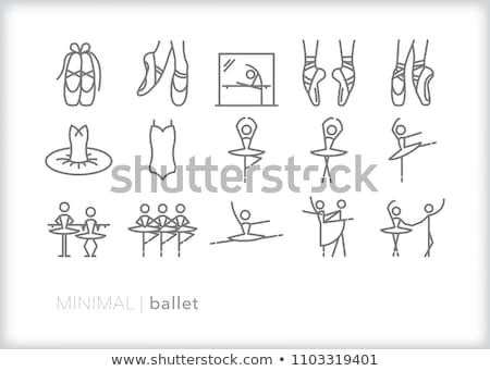 Ikon ayaklar doğrusal stil dans dizayn Stok fotoğraf © Olena