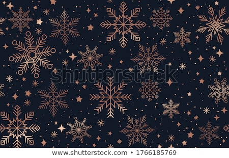 Modern luxury seamless pattern design with snowflake ornaments Stock photo © Pravokrugulnik