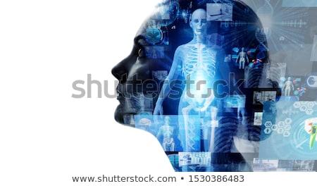 ストックフォト: 治療 · 診断 · 医療 · 印刷 · ミント · 緑