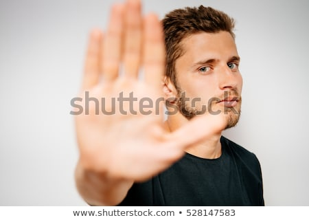 Biznesmen stop gest człowiek biznesu Zdjęcia stock © RAStudio