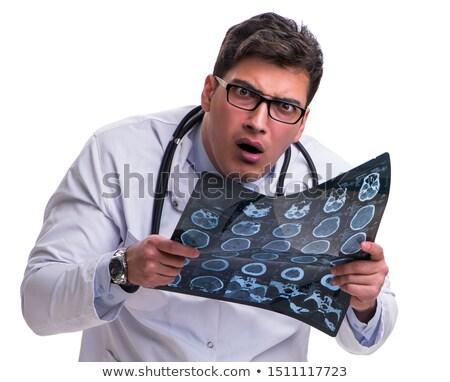 молодые · мужской · доктор · изолированный · белый · компьютер - Сток-фото © elnur