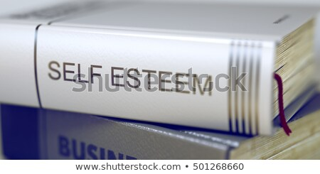 Livro título coluna auto-estima 3D Foto stock © tashatuvango