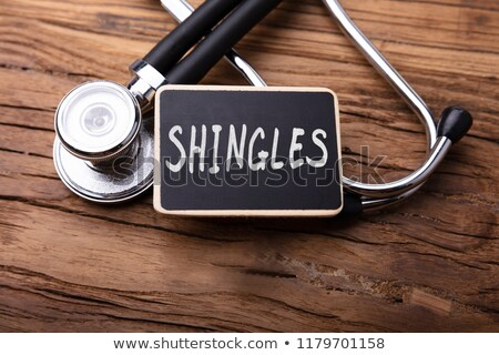 Shingles Diagnosis. Medical Concept. Stock photo © tashatuvango