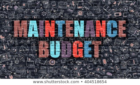 Maintenance Budget Concept. Multicolor on Dark Brickwall. Stock photo © tashatuvango