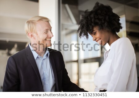 Stock photo: Group of people celebrating co-worker