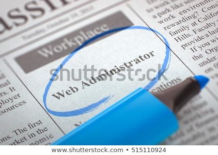Web beheerder gezocht 3D krant classifieds Stockfoto © tashatuvango