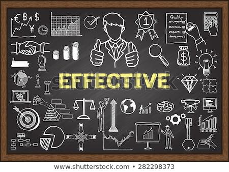 improve productivity on chalkboard with doodle icons stock photo © tashatuvango