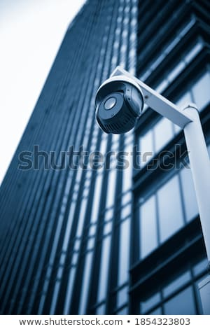 Closeup Front of Camera Lens with Spy Systems. Stock photo © tashatuvango