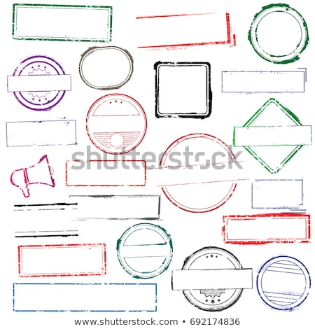 Quadro borracha selos papel assinar Foto stock © IMaster