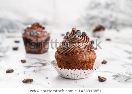 Chocolate cupcakes dessert Stock photo © fotogal