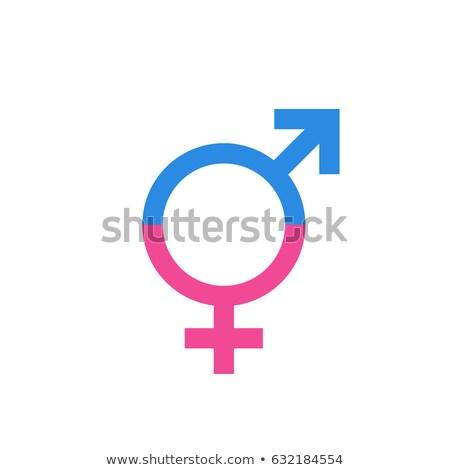 Masculino feminino igualdade colorido mãos símbolo Foto stock © psychoshadow