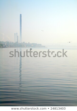 tewel on misty sea coast Stock photo © wildman