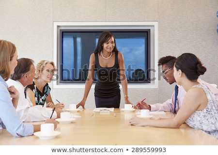 Senior businessman talking to a woman Stock photo © IS2