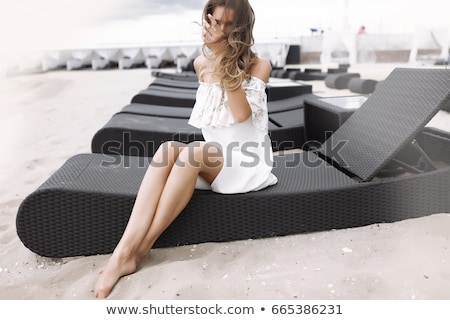 Foto stock: Sensual · mulher · loira · posando · senhora · glamour