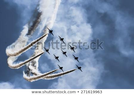 Snel vechter jet vlucht strijd show Stockfoto © vilevi