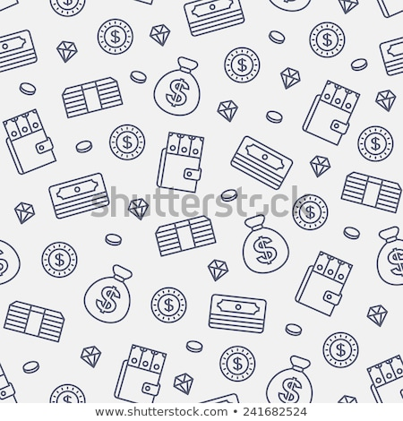 gold coins seamless pattern vector background money and wealth stock photo © popaukropa