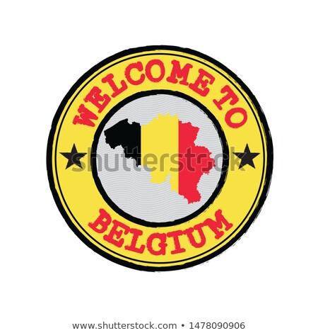 Vermelho carimbo branco bem-vindo Bélgica quadro Foto stock © Zerbor