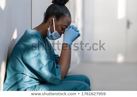 врач · утешительный · пациент · плачу · женщины · лабораторный · халат - Сток-фото © traimak