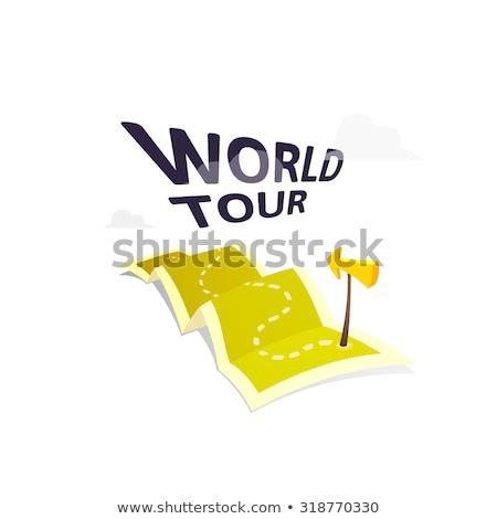 Мир · тур · логотип · долго · маршрут · путешествия - Сток-фото © sidmay