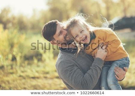 любящий · папу · дочь · парка · ребенка · улыбка - Сток-фото © feverpitch