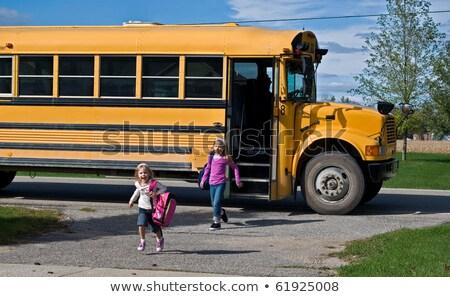 Gyerek el iskolabusz illusztráció gyerekek gyerekek Stock fotó © bluering
