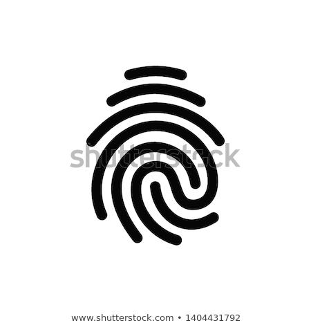 Huellas dactilares línea diseno aislado icono blanco Foto stock © Decorwithme