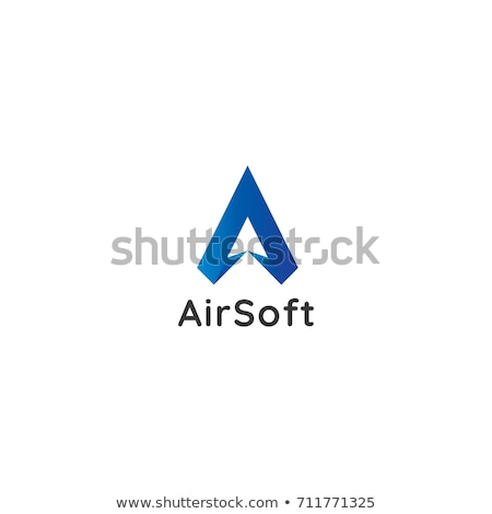 letter A logo. air flow arrow icon design concept. creative apps Stock photo © taufik_al_amin