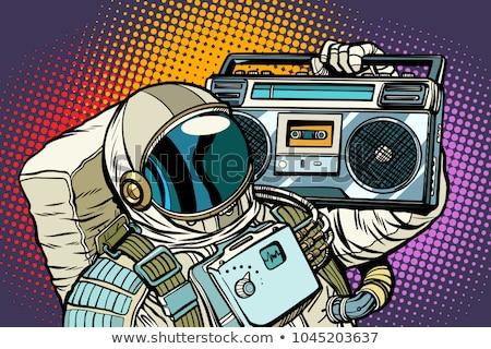 宇宙飛行士 オーディオ 音楽 ポップアート レトロな コミック ストックフォト © studiostoks