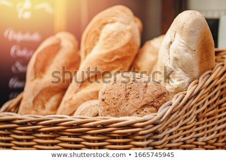 буханка хлеб плетеный корзины борьбе хлебобулочные Сток-фото © wavebreak_media