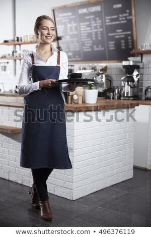 tazze · di · caffè · vetro · vuota · fine · sfondo · bianco - foto d'archivio © is2