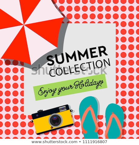 summer collection enjoy your holiday poster travel banner beach resort vector illustration stock photo © ikopylov