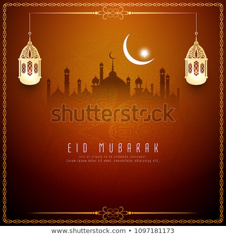 golden creative mosque design for eid mubarak festival Stock photo © SArts