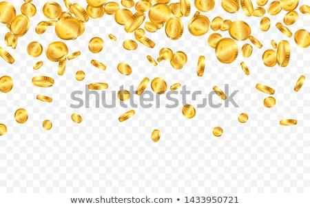 Gerçekçi altın madeni örnek şeffaf yalıtılmış düşen Stok fotoğraf © articular