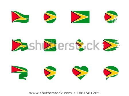 Guyana · kalp · bayrak · vektör · görüntü · arka · plan - stok fotoğraf © Amplion