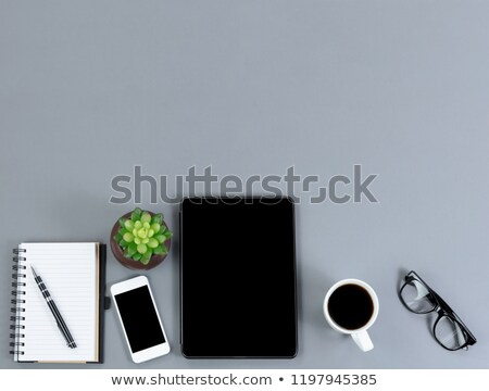 Grijs desktop bodem grens werk technologie Stockfoto © tab62