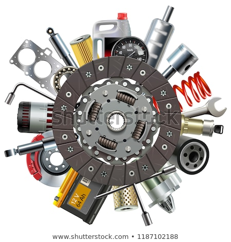Vector Car Spares Concept with Clutch Disc Stock photo © dashadima