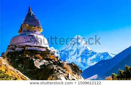 Dağ tapınak budist inşaat doğa Stok fotoğraf © craig