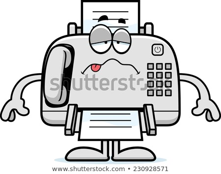 Sick Cartoon Fax Machine Stock photo © cthoman