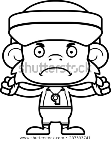Cartoon Angry Lifeguard Monkey Stock photo © cthoman