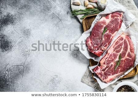 Darab pörkölt hús pergamen közelkép lövés Stock fotó © dash
