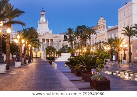 cadiz city hall on plaza san juan de dios stock photo © benkrut