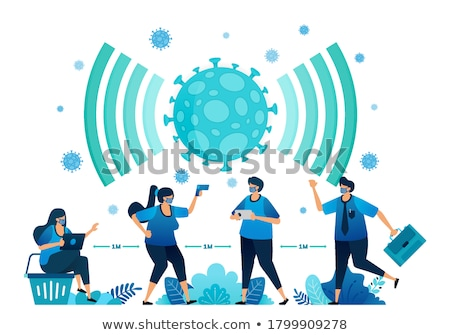 Network Protocol Vector Illustration Stock photo © jeff_hobrath